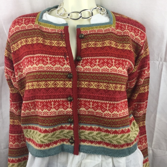 a04f8b7b Oleana Sweaters | S Norwegian Short Cardigan With Stripes | Poshmark